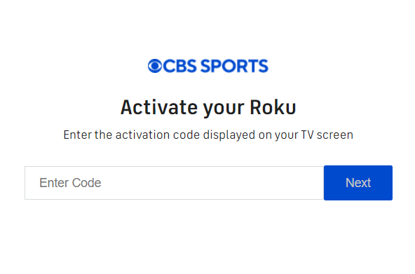 Activate cbssports.com on Roku