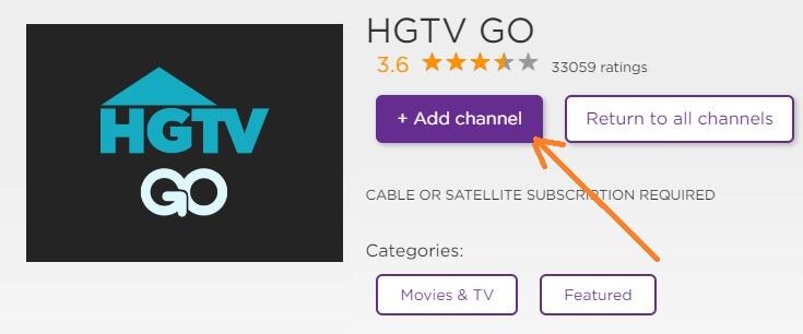 Activate HGTV Go for Roku